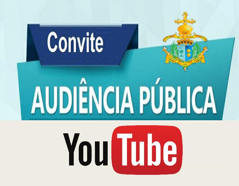 METAS FISCAIS - PREFEITURA realizará Audiência Pública virtual no Youtube, no próximo 25/09, às 15 h.