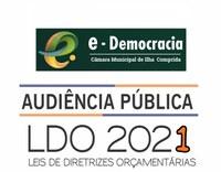 Câmara Municipal de Ilha Comprida CONVIDA para participação (ON-LINE) na Audiência Pública da LDO.