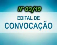 EDITAL DE CONVOCAÇÃO Nº 03/19 - CONCURSO PÚBLICO N° 02/2018