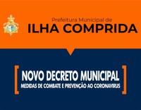 Coronavírus - Prefeitura edita Decreto com medidas adicionais para o combate ao Covid-19, especialmente para o período de 26/03 a 04/04.