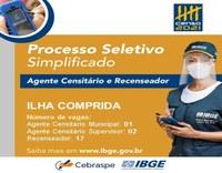 IBGE abre 20 vagas temporárias para trabalhar no Censo 2021 em ILHA COMPRIDA.