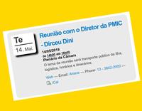 Neste 14/05 - Reunião com o Diretor da Prefeitura, Dirceu Dini.